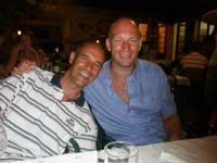 Croatia Diving: happy Instructors after dinner